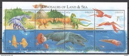 D124 LIBERIA FAUNA PREHISTORIC ANIMALS DINOSAURS OF LAND & SEA 1KB MNH - Prehistorics