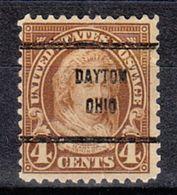 USA Precancel Vorausentwertung Preo, Bureau Ohio, Dayton 636-61 - Vereinigte Staaten