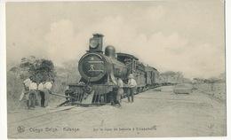 Congo Belge Katanga Sur La Ligne De Sakanla à Elisabethville Locomotive Gros Plan Nels Serie 14, No 187 - Congo - Kinshasa (ex Zaire)