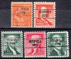 USA Precancel Vorausentwertung Preo, Locals Ohio, Deerfield 748, 5 Diff. - Vereinigte Staaten