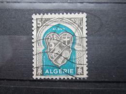 VEND BEAU TIMBRE D ' ALGERIE N° 268 , GRIS ET BLEU VERT !!! - Used Stamps