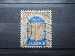 VEND BEAU TIMBRE D ' ALGERIE N° 269 , BEIGE ET OUTREMER !!! - Used Stamps