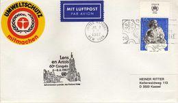 United Nations > New York Letter .nice Stamp UNHCR - 1984 Future For Refugees & Lens En Artois 60e Congres - New York - Hoofdkwartier Van De VN