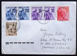 LATVIA 1992  Letter To Denmark  ( Lot 5695 ) - Latvia