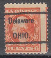 USA Precancel Vorausentwertung Preo, Locals Ohio, Delaware 452, Perf. 11x11 - Vereinigte Staaten