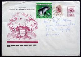 LATVIA   1991  Letter To Denmark  ( Lot 1614 ) - Lettonie
