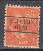 USA Precancel Vorausentwertung Preo, Locals Ohio, Dellroy 729 - Vereinigte Staaten