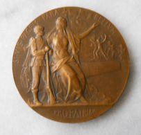 Médaille Pro-Patria Par P.Grandhomme Ministères De La Guerre Fusil Canon Lion Fleuret Marianne Casquée Bronze - France