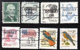 USA Precancel Vorausentwertung Preo, Locals Ohio, Dorset 872, 8 Diff. - Vereinigte Staaten