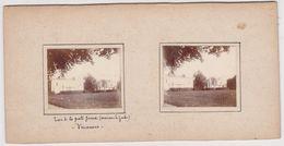 H2 Photo Stéreoscopique Recto-verso - Vers 1900 VINCENNES France Lac Porte Jaune -maison Garde - Photos Stéréoscopiques