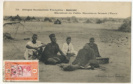 Mauritanie 74 AOF Penel Marabout Ou Pretre Musulman Faisant L' Ecole Timbrée St Louis - Mauritanie