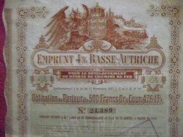 AUSTRIA : BOND / OBLIGATION  EMPRUNT  4 %  BASSE AUTRICHE  1911 - Azioni & Titoli