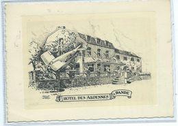 Bande Hôtel Des Ardennes ( Version Avec Avion Crashé Dans Le Jardin ) - Nassogne
