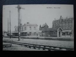 Cpa/pk 1910 MELREUX Gare Et Hotel - Hotton