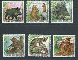 Equatorial Guinea 1976 European Animals Part Set 6 Singles FU - Stamps
