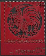 2016 Liechtenstein Mi 1838 Used .  Chinesisches Neujahr: Jahr Des Hahnes - Gebraucht