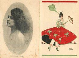 PROGRAMME DE THÉÂTRES - Folies Bergères Mistinguette); Olympia, G K. Benda Illustrateur. - Programs