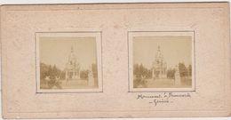 H8 Photo Stéreoscopique Recto-verso -vers 1900 AIX Les BAINS Roches Roi GENEVE Monument Brunswick Suisse - Photos Stéréoscopiques
