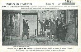THÉÂTRE DE L'ATHÉNÉE - Arsène Lupin. - Théâtre