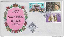 27543. Carta F.D.C. BELIZE 1977. Jubilee Queen Elisabeth - Belice (1973-...)