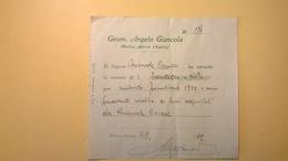 1932 RICEVUTA SPESE TECNICHE ED ACQUISTO MATERIALE EDILE - Italia