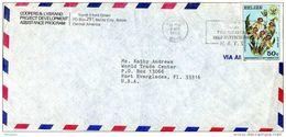 27546. Carta Aerea BELIZE City (Belize) 1985 To USA. Slogan N.A.T.S. - Belize (1973-...)