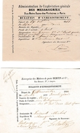 1846/54 - Entreprise Des MAÎTRES DE POSTE Et Exploitation Gle Des MESSAGERIES - Documents Historiques