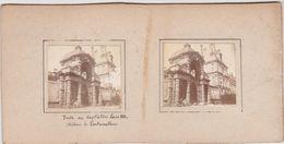 H14 Photo Stéréoscopique Recto-verso -vers 1900 Chateau Fontainebleau Cote Jardin Anglais Baptistere Louis XIII - Photos Stéréoscopiques
