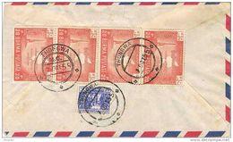27551. Carta Aerea  Certificada THONGWA (birmania) 1955. Burma To India - Myanmar (Burma 1948-...)