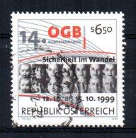 Austria - 1999 - 14th Congress Federation Of Austrian Trade Unions - Used - 1945-.... 2nd Republic