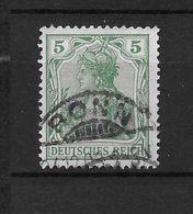 LOTE 1637 /// ALEMANIA IMPERIO   YVERT Nº: 67  CON FECHADOR DE RONN - Alemania
