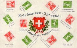 (60) CPA  Representation De Timbres Suisse    (Bon Etat) - Timbres (représentations)