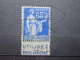 """VEND BEAU TIMBRE DE FRANCE N° 365 + BANDE PUBLICITAIRE """" POSTE AERIENNE """" !!! (d) - Publicités"""