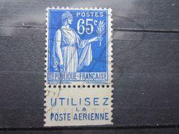 """VEND BEAU TIMBRE DE FRANCE N° 365 + BANDE PUBLICITAIRE """" POSTE AERIENNE """" !!! (g) - Publicités"""