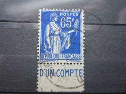 """VEND BEAU TIMBRE DE FRANCE N° 365 + BANDE PUBLICITAIRE """" C.C.P. """" !!! (a) - Publicités"""