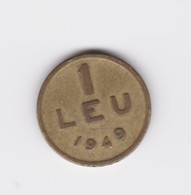 1 Leu 1949  République Populaire TTB - Roumanie