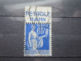 """VEND BEAU TIMBRE DE FRANCE N° 365 + BANDE PUBLICITAIRE """" HAHN """" !!! - Publicités"""