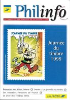 3225 - JOURNEE DU TIMBRE 1999 - ASTÉRIX - Phil Info De Février 1999 - 8 Pages Sur Astérix - Documenten Van De Post