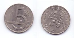 Czechoslovakia 5 Korun 1938 - Czechoslovakia
