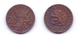 Czechoslovakia 20 Haleru 1948 Post WWII Coinage - Czechoslovakia