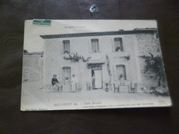 CPA 30 Gard Belvezet Café Boulet Pli Coin Sinon  TBE - France