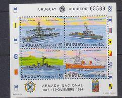 Uruguay 1994 Navy Day / Ships M/s ** Mnh (37622) - Uruguay