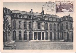 Carte Maximum Palais De L' Elysée - 1950-59
