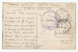 Marcophilie Fort De Vancia Ain 01 - Cachet 10e Régiment D'artilerie 41e Batterie 1914 - Marcophilie (Lettres)