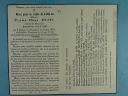 Clara Remy épse Plume Frasnes-lez-Buissenal 1892 Dergneau 1944 /48/ - Images Religieuses