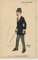 Nos Aviateurs Santos Dumont Caricature Signed Weal 1909  Edit Meria - Brésil