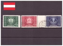Autriche 1949 - Oblitéré - UPU - Michel Nr. 943-945 Série Complète (aut882) - 1945-60 Used