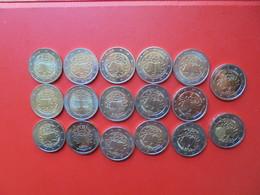 TRAITE DE ROME 2007(DONT SLOVENIE RARE !) COLLECTION 2 EURO NEUVE ISSUE DES ROULEAUX. - EURO