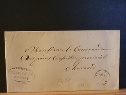 74/941 LETTRE ANNECY 1857   CACHET POSTES INTENDANT D'ANNECY - Postmark Collection (Covers)