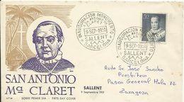 España. 1951. San Antonio María Claret. Circulado. - FDC